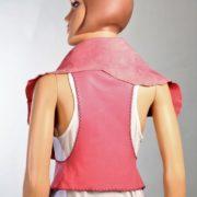 Chaleco de piel Rosa