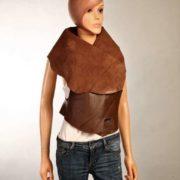 Chaleco de piel Marrón Chocolate claro